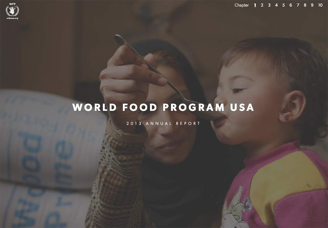 Cover of the World Food Program annual report