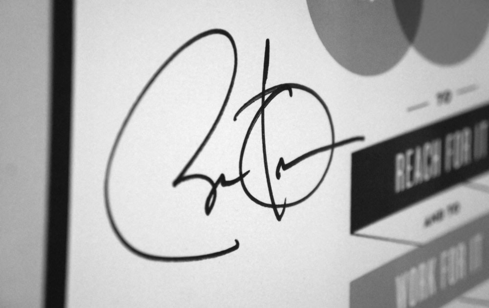 Barack Obama's signature on my poster