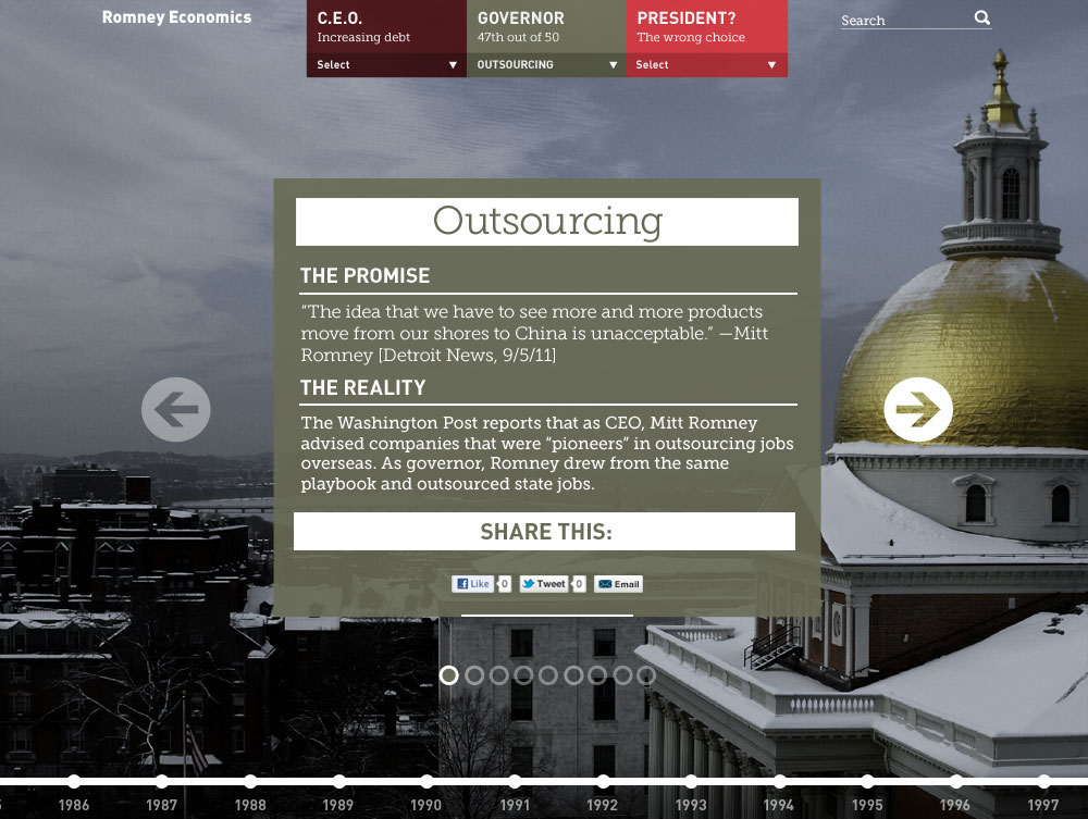 Website with case studies pertaining to Mitt Romney's stint at Bain Capital